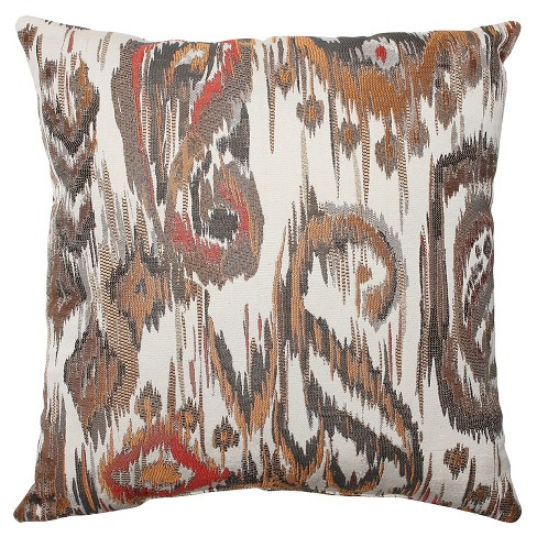 "Pillow Perfect Sonata Throw Pillow - 18""x18"" - Bronze - image 1 of 1"
