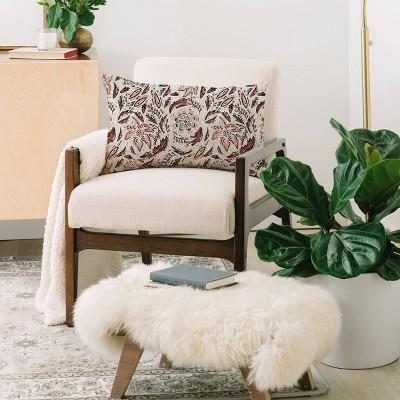 Holli Zollinger Floral Lumbar Throw Pillow Beige/Pink - Deny Designs : Target