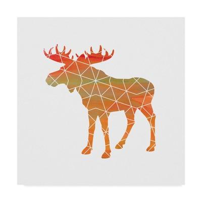 Erin Clark Moose Unframed Wall 18 x18  - Trademark Fine Art