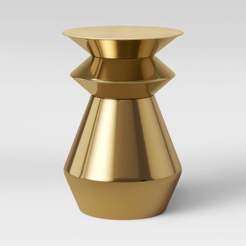 Zeeland Brass Drum Accent Table Gold - Project 62™ - image 1 of 2