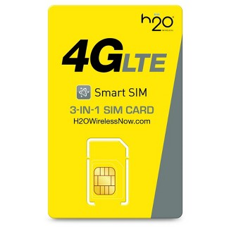 H2O Wireless 3-in-1 SIM Card Starter Kit (for GSM Unlocked Phones)