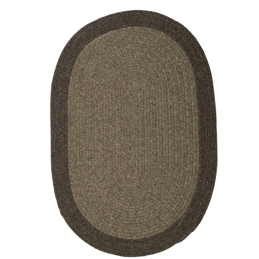 Image of 10' Round Malibu Border Braided Area Rug Brown - Colonial Mills, Size: 10' Round