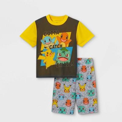 Boys' Pokemon Catch Em All 2pc Pajama Set - Yellow