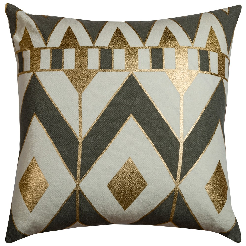 Image of Rachel Kate Geometric Throw Pillow Gray
