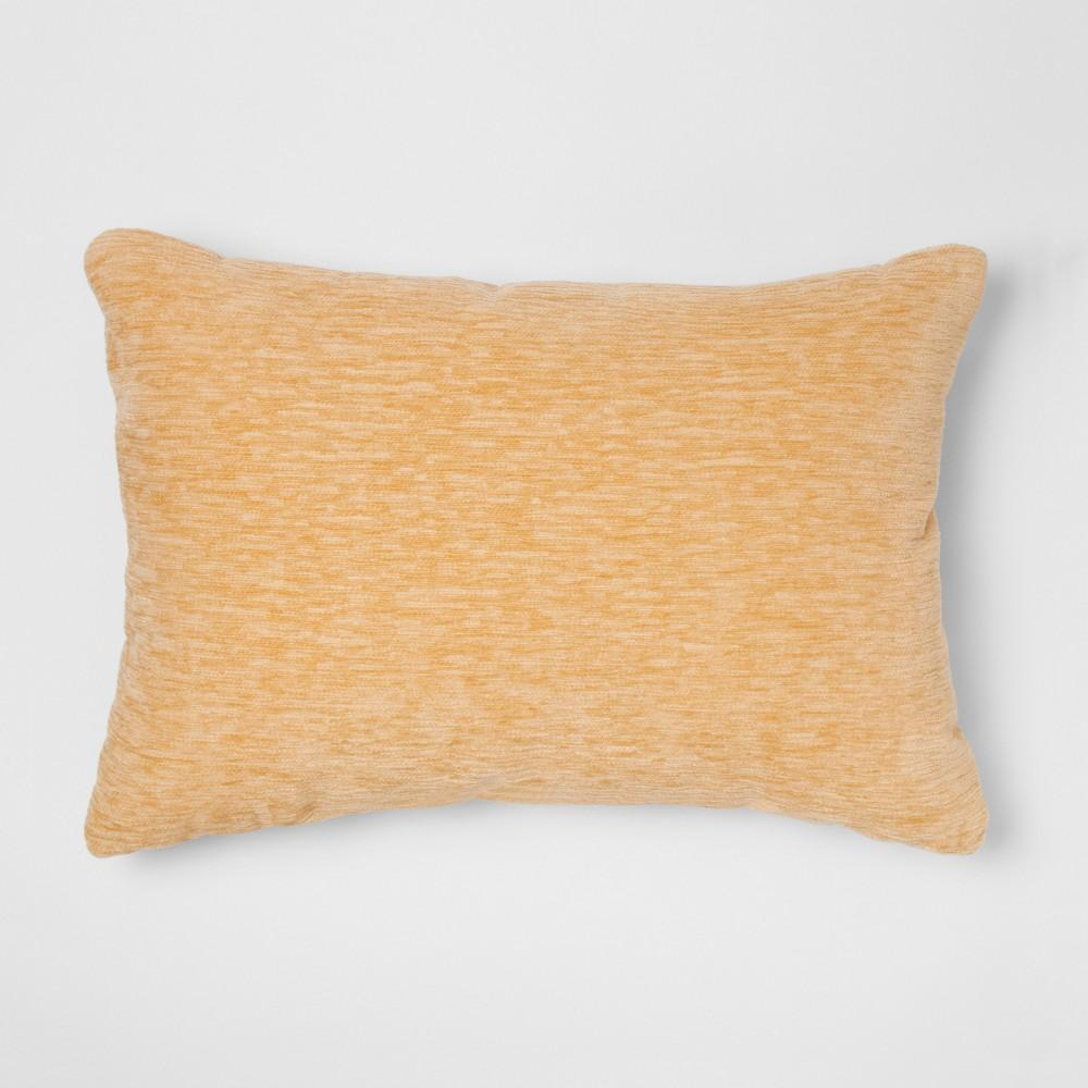 Chenille Lumbar Throw Pillow Yellow - Threshold