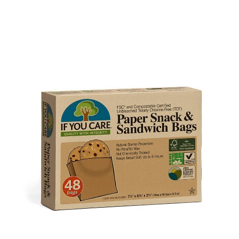 If You Care Unbleached Chlorine Free Paper Sandwich and Snack Bags - 48ct - image 1 of 4