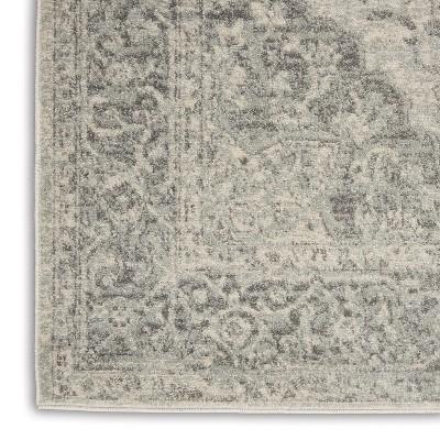 Nourison Tranquil TRA05 Ivory/Grey Indoor Area Rug : Target