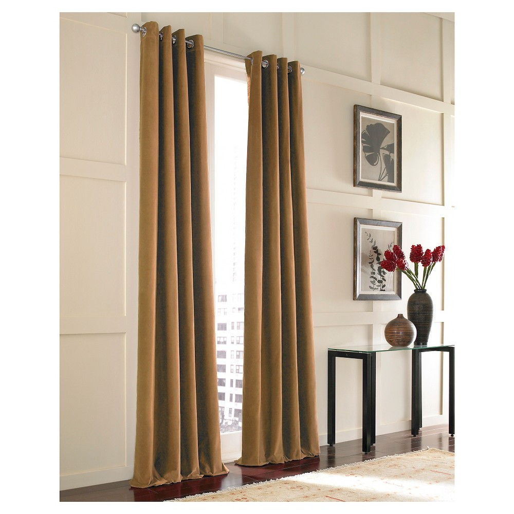 "Image of ""Curtainworks Messina Lined Curtain Panel - Chestnut (108""""), Brown"""
