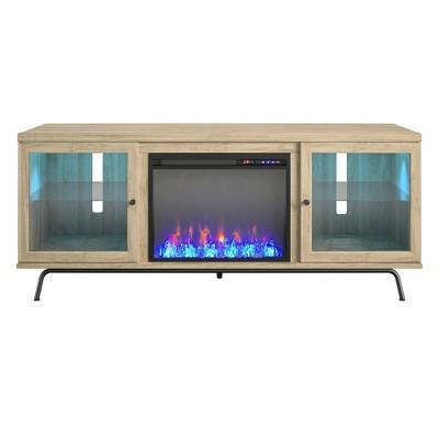 "70"" Aronson Fireplace Tv Stand Blonde Oak - Room &"