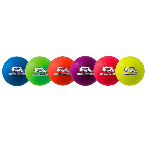 Champion Sports Rhino Skin Dodgeballs, 6-3/10 Inches, Assorted Colors, set of 6 - image 1 of 1