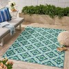 5' x 8' Jada Geometric Outdoor Rug Blue/Green - Christopher Knight Home - image 3 of 4