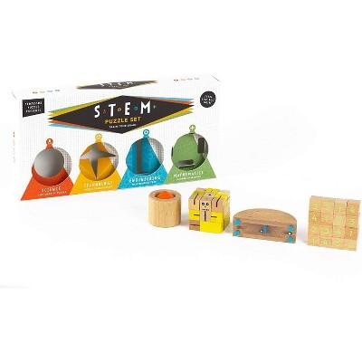 Professor Puzzle S.T.E.M. Set of 4 Puzzles Educational Games