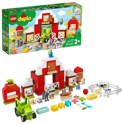 LEGO DUPLO Town Barn, Tractor & Farm Animal Care Building Toy 10952