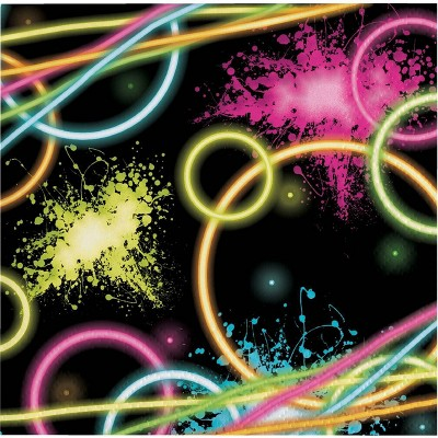 48ct Glow Party Disposable Napkins