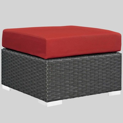 Sojourn Outdoor Patio Ottoman with Sunbrella Fabric - Modway
