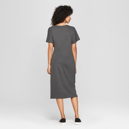 71d601388202 Women's Short Sleeve Twist Front Knit Dress - A New Day™ : Target