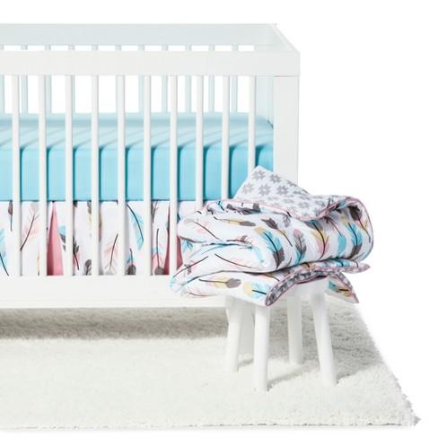 Sweet Jojo Designs Crib Bedding Set Feather 11pc