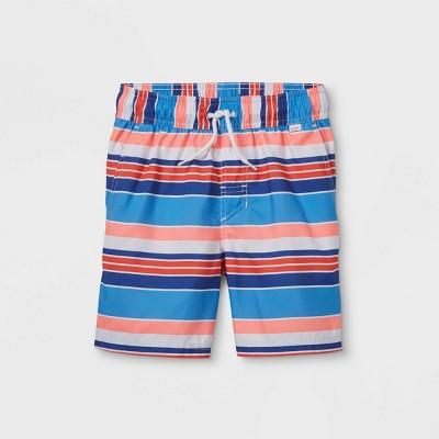 """Boys' Striped 15"""" Swim Trunks - Cat & Jack™"""
