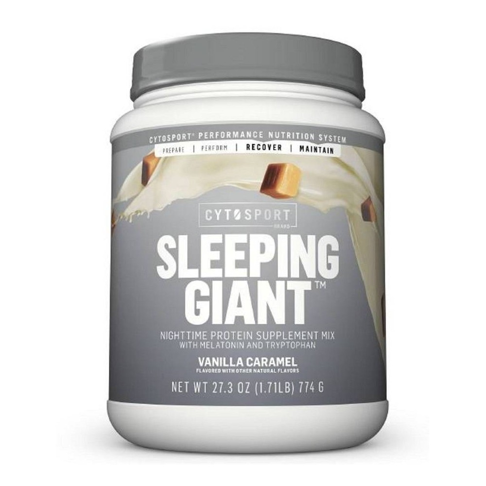 Muscle Milk Sleeping Giant Protein Powder - Vanilla Caramel - 27.3oz