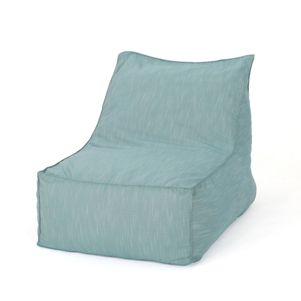 "Image of ""3"""" Henrietta Bean Bag Chair Teal - Christopher Knight Home, Blue"""