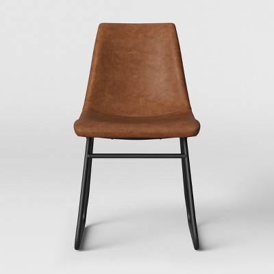 Bowden Faux Leather And Metal Dining Chair Camel - Project 62™