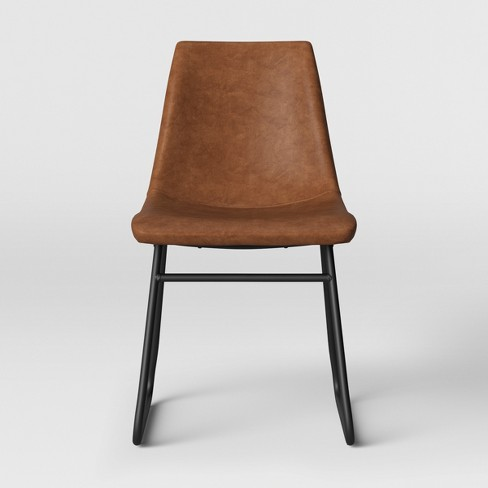 Bowden Faux Leather And Metal Dining Chair Caramel - Project 62™ - image 1 of 4