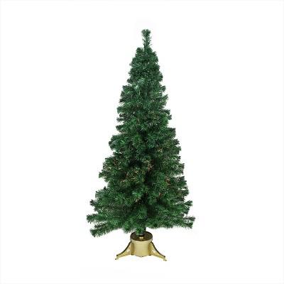 Northlight 7' Prelit Artificial Christmas Tree Medium Color Changing Fiber Optic