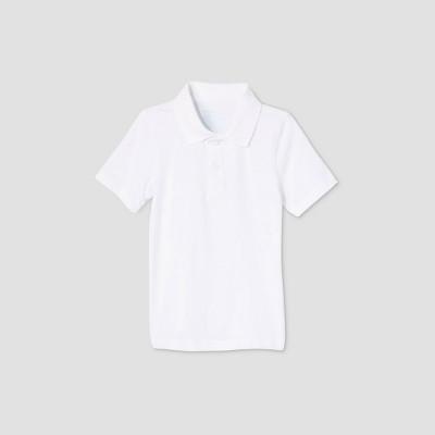 Toddler Boys' Adaptive Short Sleeve Polo Shirt - Cat & Jack™ White