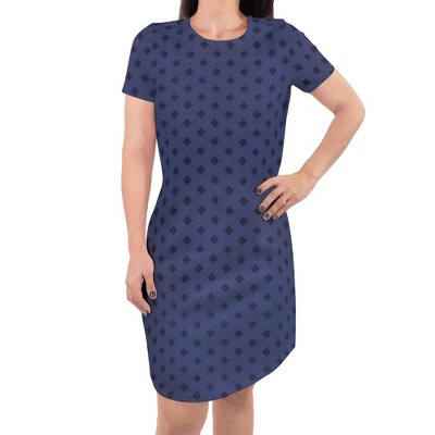 Touched by Nature Womens Organic Cotton Short-Sleeve Dress, Dainty Rosette