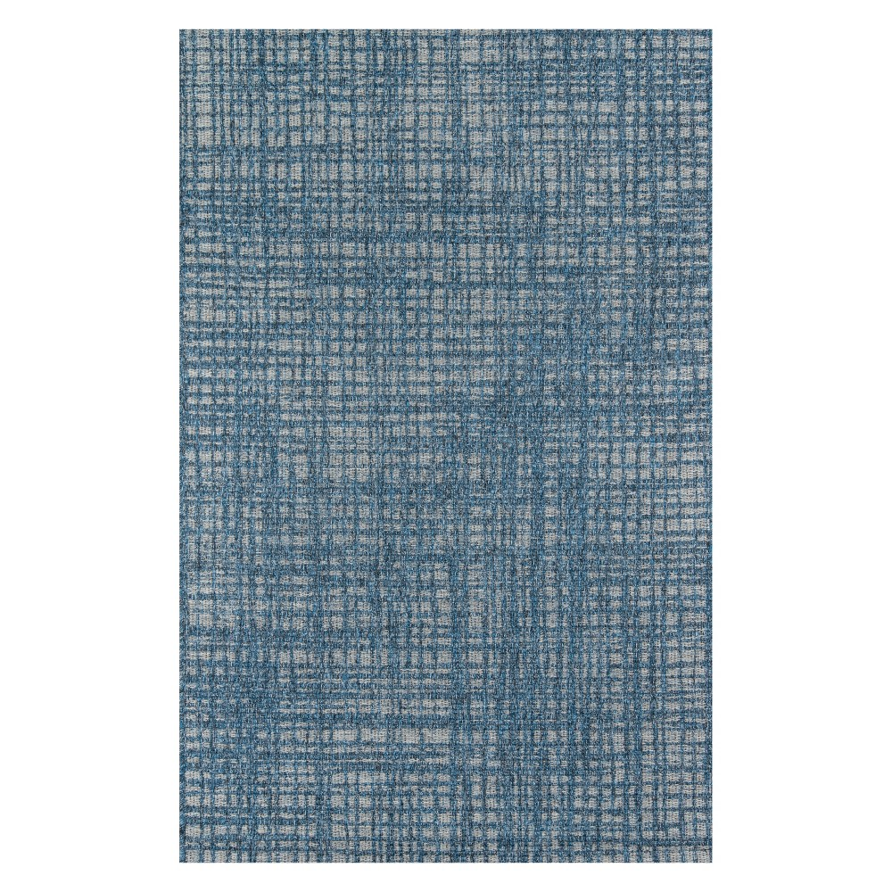 5'X7'6 Geometric Loomed Area Rug Blue - Momeni
