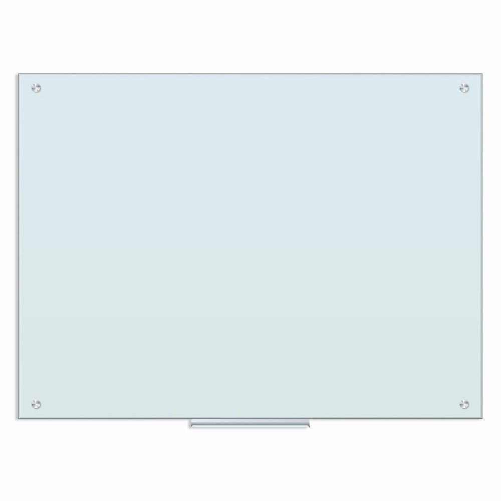 U Brands 47 34 X35 34 White Dry Erase Board Frameless Frosted Glass
