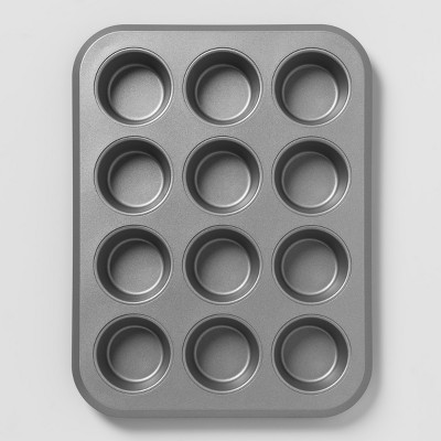 Aluminized Steel Non-Stick Muffin Tin Silver - Made By Design™