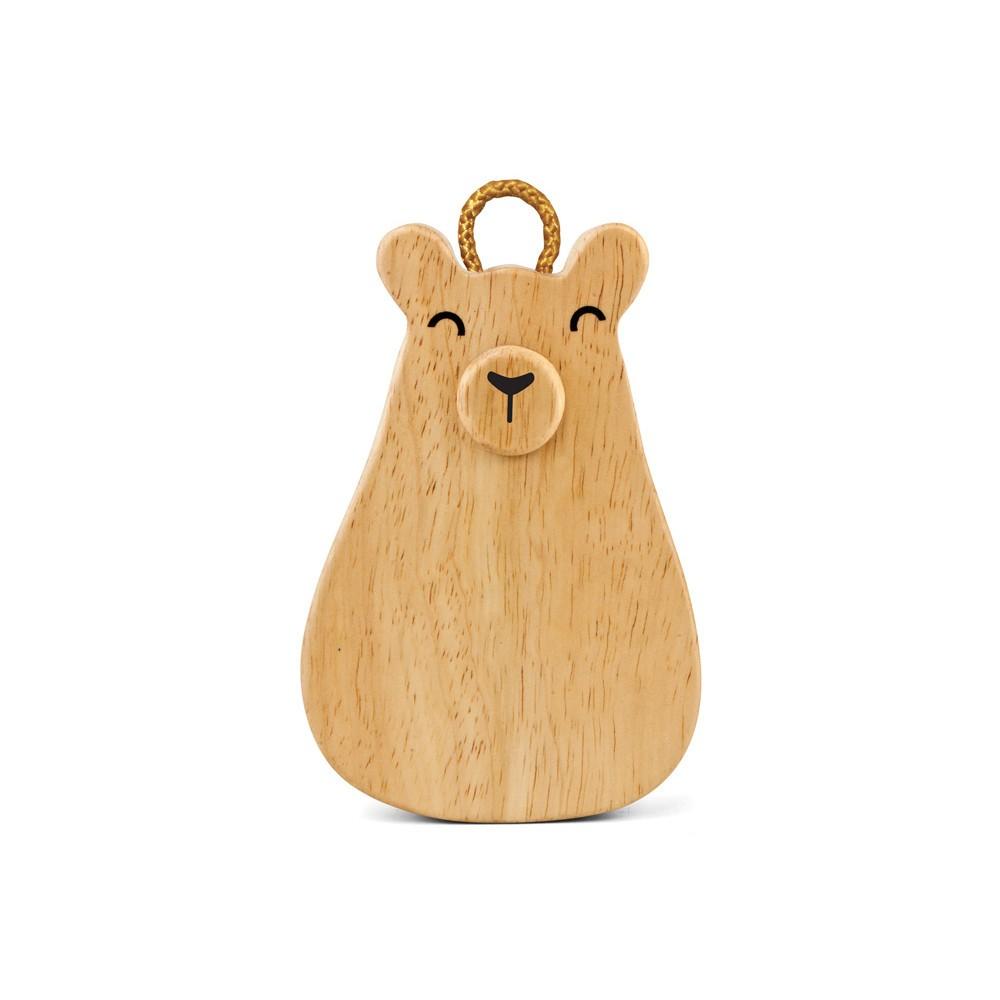 Hohner Green Tones Baby Bear Rattle/Shaker, Wood