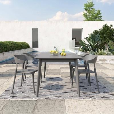 Felix 4pk Indoor/Outdoor Stacking Dining Chairs - Novogratz