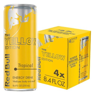Red Bull Yellow Edition Tropical Punch Energy Drink - 4pk/8.4 fl oz Cans