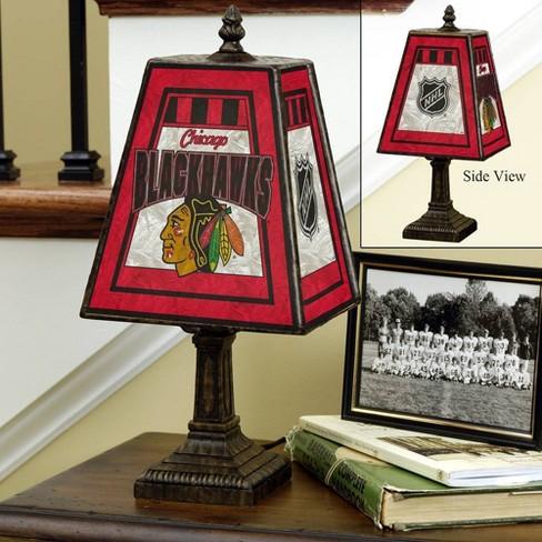 NHL Chicago Blackhawks Art Glass Table Lamp - image 1 of 1