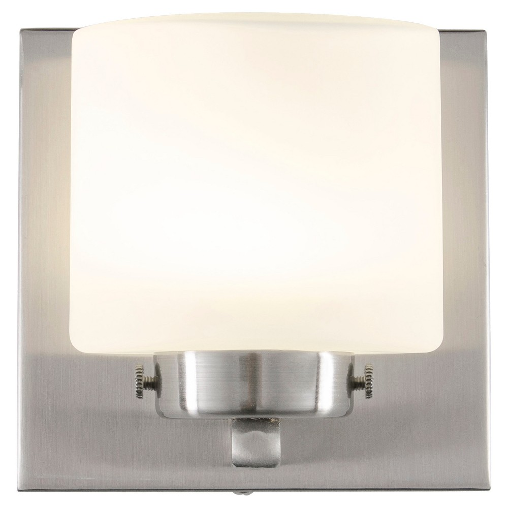 Image of Clean 1-Light LED Vanity - Satin Nickel