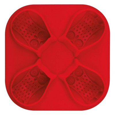 Tovolo Novelty Ice Molds - Owl Candy Apple Red