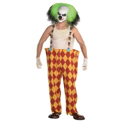 Adult Scary Hoop Pants with Suspenders Halloween Costume One Size