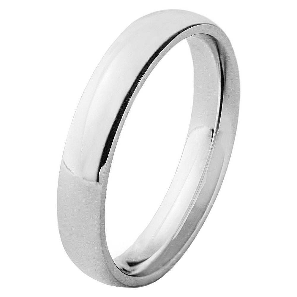 Stainless Steel Domed Ring (4mm) - Silver ( 6), Adult Unisex