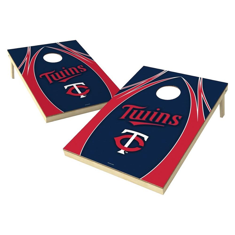 Minnesota Twins Wild Sports V Logo Shield Cornhole Bag Toss Set - 2x3 ft.