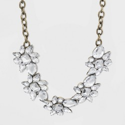 SUGARFIX by BaubleBar Floral Crystal Statement Necklace