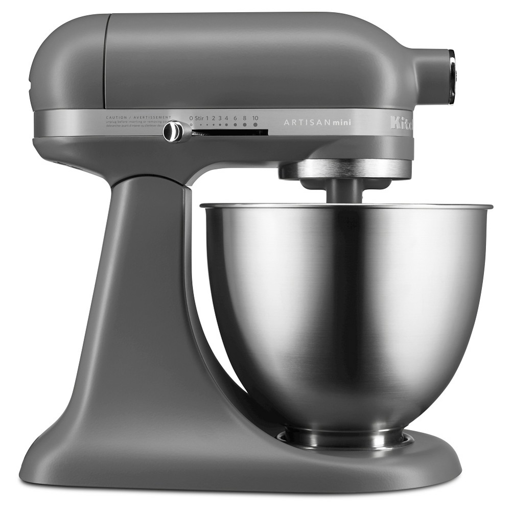 KitchenAid Artisan Mini 3.5qt Tilt-Head Stand Mixer – KSM3311XFG, Matte Gray 51003064