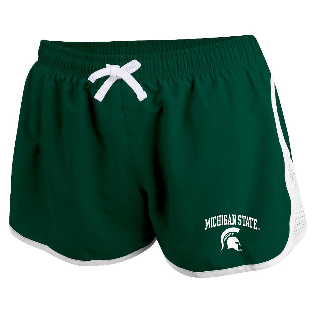 Michigan State Spartans Women's Movement Athletic Shorts L, Multicolored
