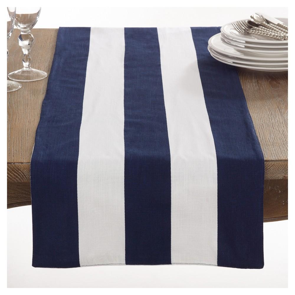 Navy Blue Saint John Striped Design Table Runner (16