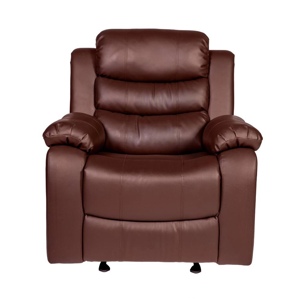 Image of Oscar Massage Recliner Brown - Relaxzen