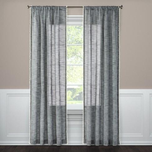 Pom Stripe Window Sheer Threshold