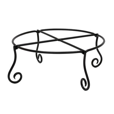 Iron Piazza Plant Stand Black Powder Coat Finish - Achla Designs