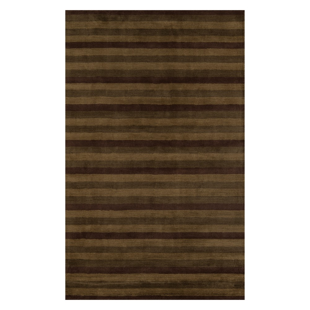 "Image of ""2'3""""X3'9"""" Stripe Tufted Accent Rug Brown - Momeni"""