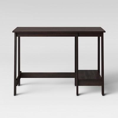 Trestle Desk Espresso Brown - Room Essentials™